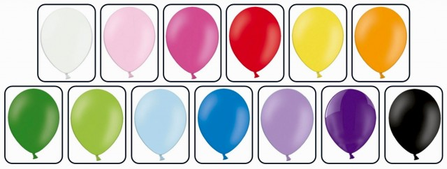цвета шаров для печати