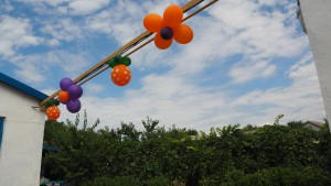 Воздушные шарики декор-дизайн, солнце, цветы, настенные украшения